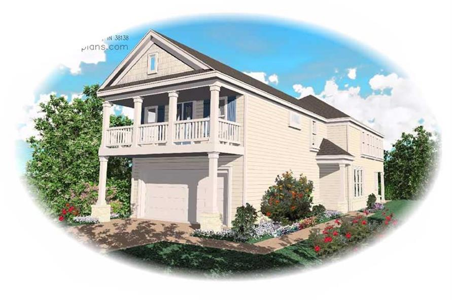 3-Bedroom, 2079 Sq Ft Contemporary House Plan - 170-1709 - Front Exterior