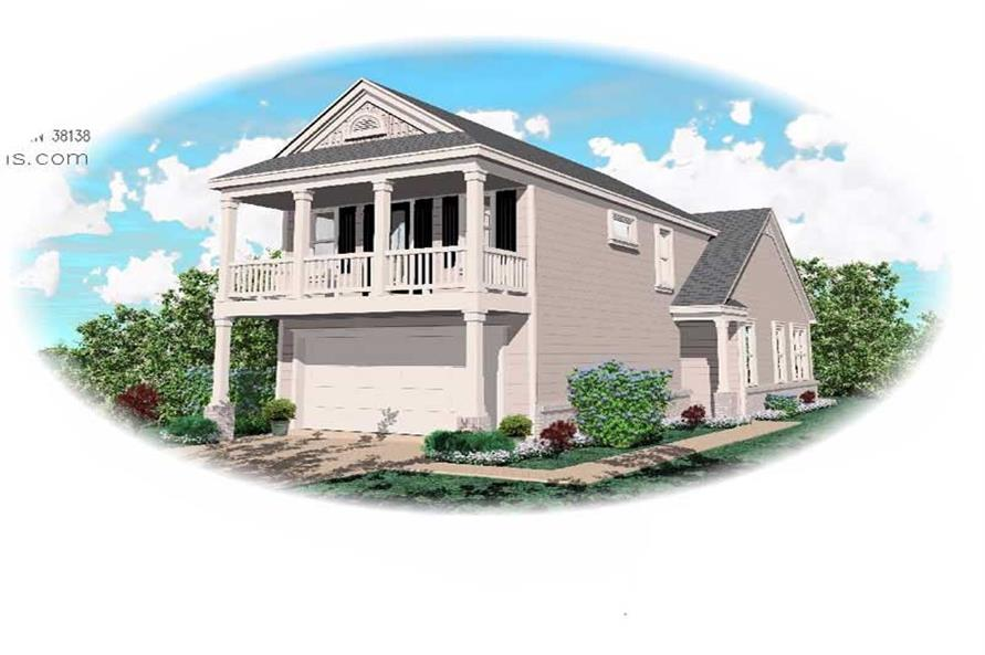 2-Bedroom, 1437 Sq Ft Contemporary House Plan - 170-1710 - Front Exterior
