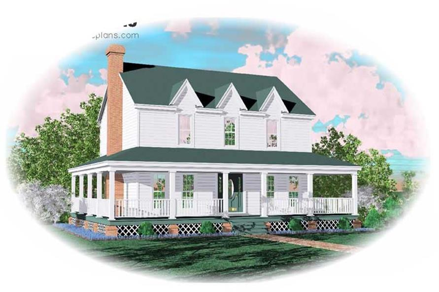 3-Bedroom, 1810 Sq Ft Georgian House Plan - 170-1711 - Front Exterior