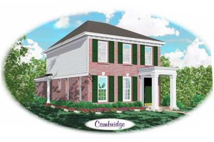 2-Bedroom, 1320 Sq Ft Colonial House Plan - 170-1712 - Front Exterior
