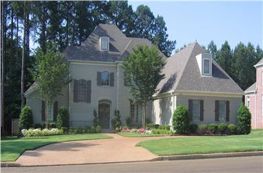 4-Bedroom, 4616 Sq Ft French House Plan - 170-1718 - Front Exterior