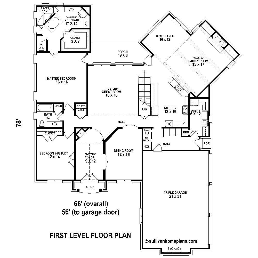 French country house plans home design su b2641 980 for 4200 sq ft house plans