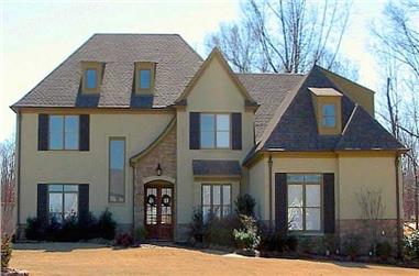 5-Bedroom, 4065 Sq Ft French Home Plan - 170-1725 - Main Exterior