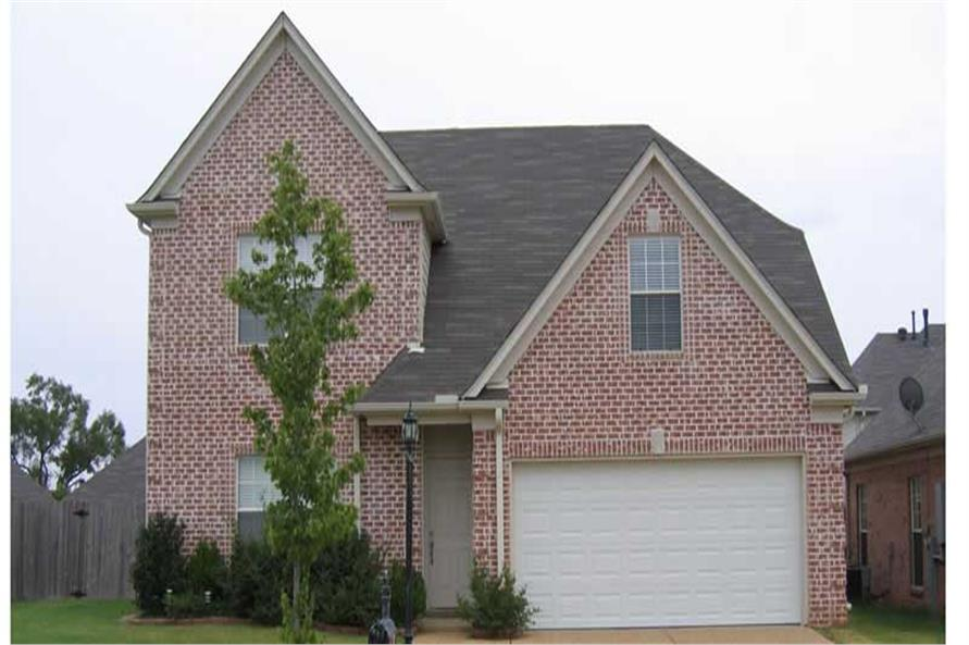 This is yet another color photo of these Traditional Home Plans.