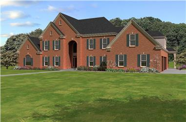 5-Bedroom, 4729 Sq Ft Luxury House Plan - 170-1737 - Front Exterior