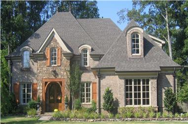 3-Bedroom, 4200 Sq Ft Country House Plan - 170-1740 - Front Exterior
