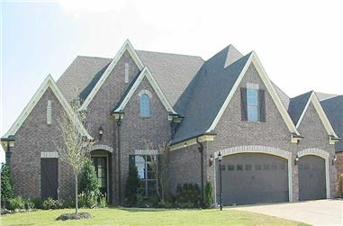4-Bedroom, 3568 Sq Ft Country Home Plan - 170-1744 - Main Exterior