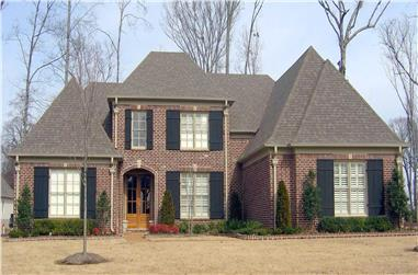 4-Bedroom, 3902 Sq Ft French Home Plan - 170-1751 - Main Exterior
