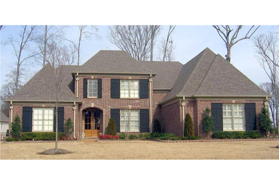 4-Bedroom, 3902 Sq Ft French Home Plan - 170-1753 - Main Exterior