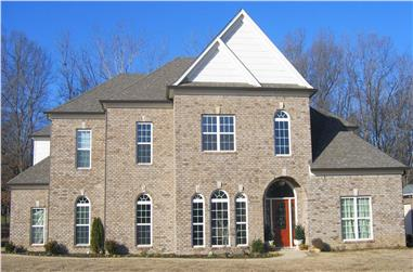 4-Bedroom, 6331 Sq Ft French Home Plan - 170-1754 - Main Exterior