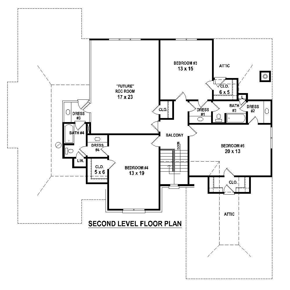 Large images for house plan 170 1767 for Second story floor plan