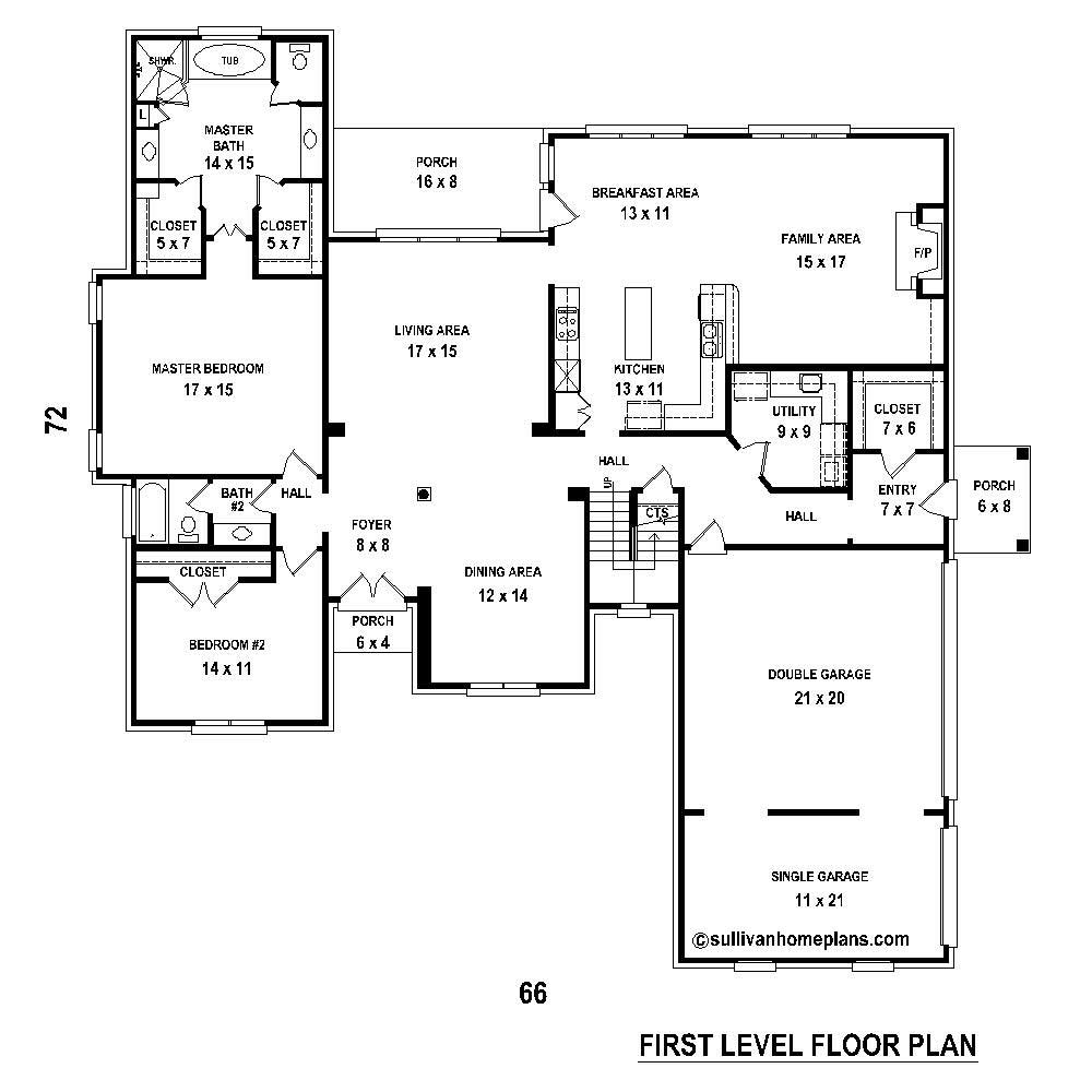 French Traditional House Plans Home Design Su B2331 1640