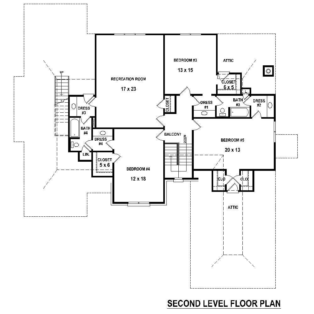 Large images for house plan 170 1771 for Second story floor plan