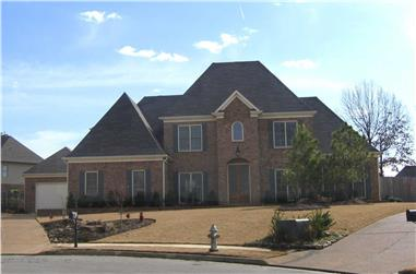 5-Bedroom, 3935 Sq Ft French Home Plan - 170-1772 - Main Exterior