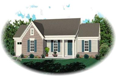 Front elevation of Ranch home (ThePlanCollection: House Plan #170-1796)