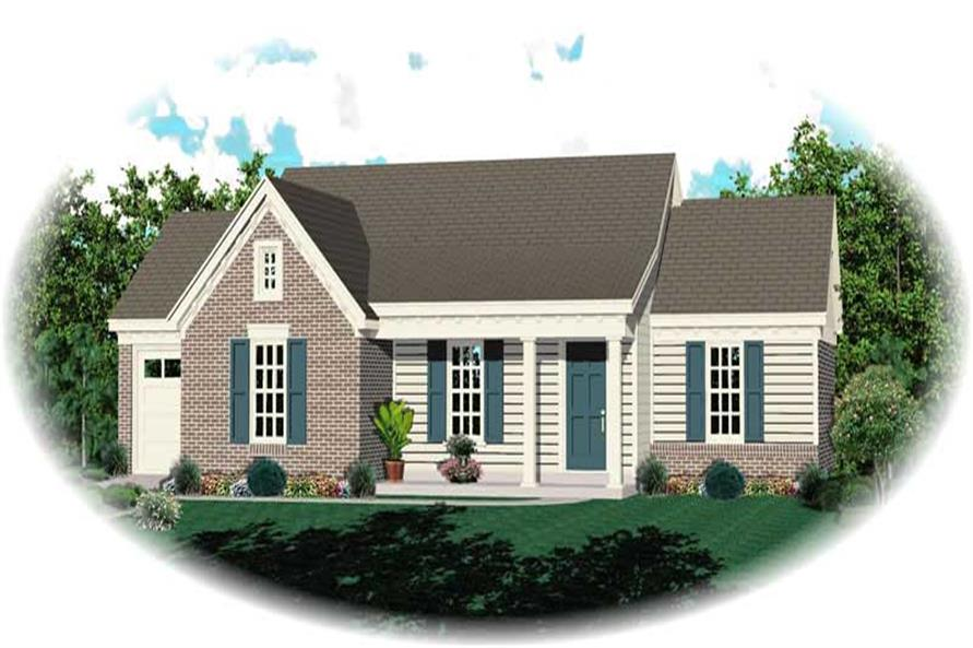 These House Plans have a color photo. Look, there they are!