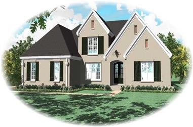 4-Bedroom, 3589 Sq Ft French Home Plan - 170-1802 - Main Exterior