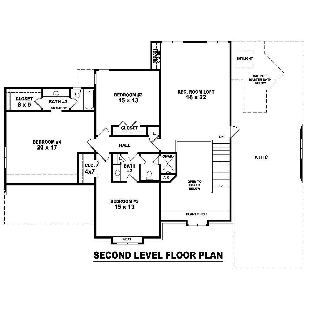 Floor plan second story for Second story floor plan