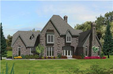 4-Bedroom, 3741 Sq Ft Country Home Plan - 170-1813 - Main Exterior