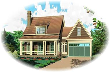 3-Bedroom, 1887 Sq Ft Cape Cod Home Plan - 170-1821 - Main Exterior