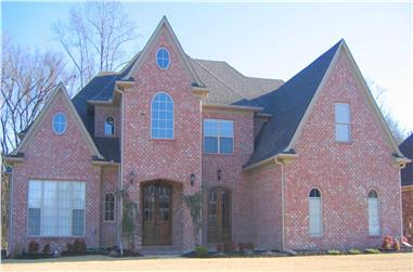 3-Bedroom, 4834 Sq Ft French Home Plan - 170-1840 - Main Exterior