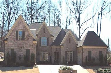 4-Bedroom, 5805 Sq Ft Country House Plan - 170-1854 - Front Exterior