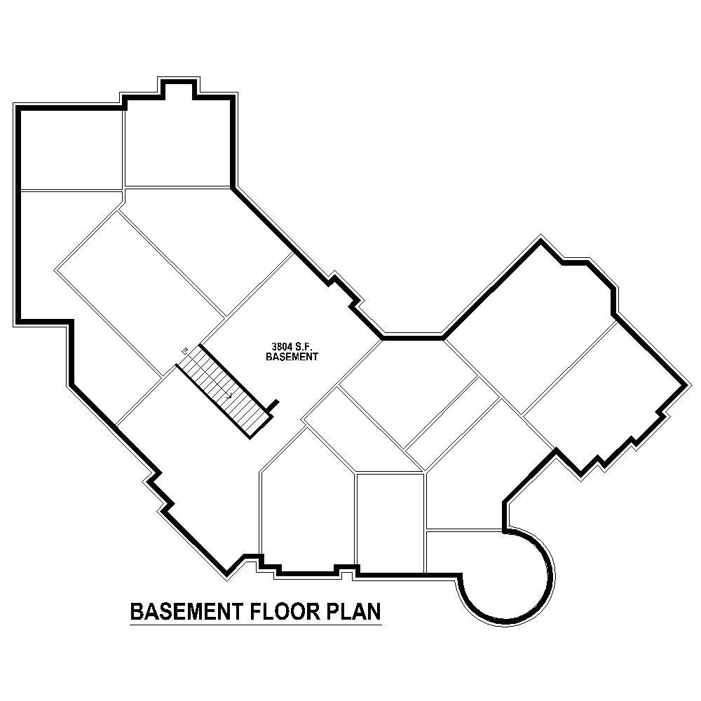 170-1863: Floor Plan Basement