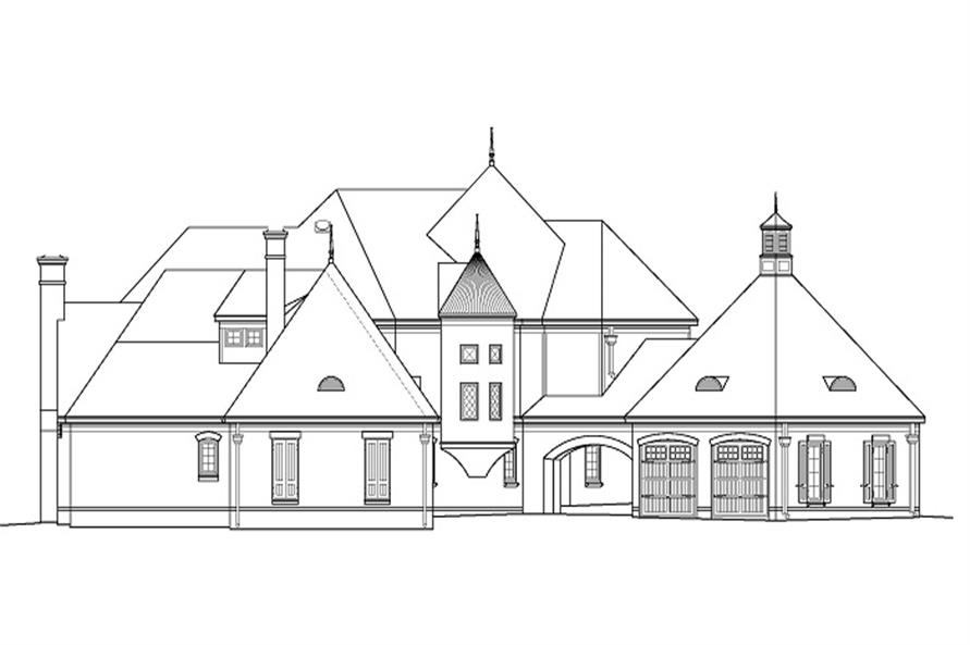 Home Plan Left Elevation of this 4-Bedroom,5860 Sq Ft Plan -170-1863