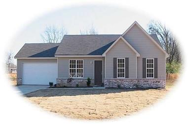 3-Bedroom, 1247 Sq Ft Contemporary Home Plan - 170-1875 - Main Exterior