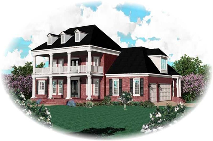 4-Bedroom, 3792 Sq Ft Luxury Home Plan - 170-1880 - Main Exterior