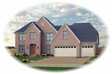 4-Bedroom, 3526 Sq Ft French Home Plan - 170-1884 - Main Exterior