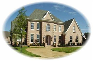 4-Bedroom, 4228 Sq Ft French Home Plan - 170-1888 - Main Exterior