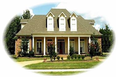 4-Bedroom, 4280 Sq Ft Country House Plan - 170-1890 - Front Exterior