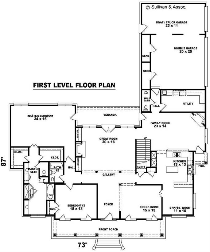 Country Farmhouse Home With 4 Bedrooms 4280 Sq Ft House Plan 170 1890 Theplancollection