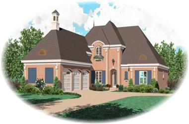4-Bedroom, 4206 Sq Ft French House Plan - 170-1896 - Front Exterior