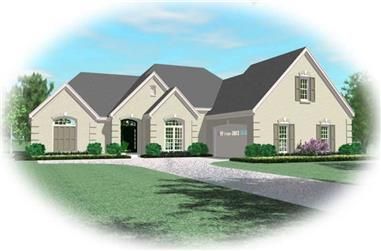 4-Bedroom, 3063 Sq Ft Luxury House Plan - 170-1906 - Front Exterior