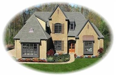 5-Bedroom, 4044 Sq Ft French House Plan - 170-1908 - Front Exterior