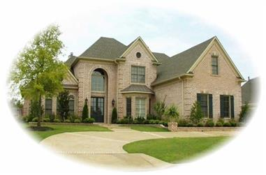 3-Bedroom, 4318 Sq Ft French House Plan - 170-1909 - Front Exterior