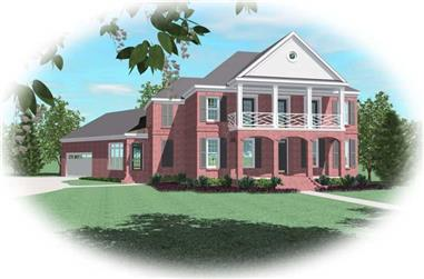 5-Bedroom, 4648 Sq Ft Luxury House Plan - 170-1911 - Front Exterior