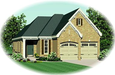 3-Bedroom, 1453 Sq Ft Country Home Plan - 170-1913 - Main Exterior
