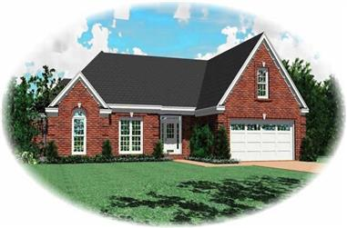 3-Bedroom, 2303 Sq Ft French House Plan - 170-1917 - Front Exterior