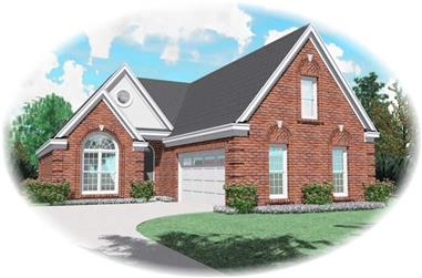 3-Bedroom, 2243 Sq Ft Traditional House Plan - 170-1919 - Front Exterior