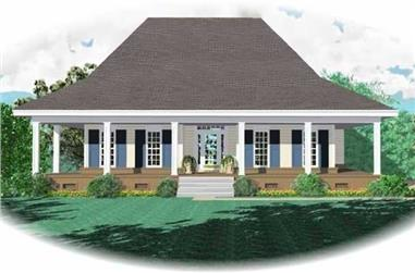 2-Bedroom, 1800 Sq Ft Country House Plan - 170-1922 - Front Exterior