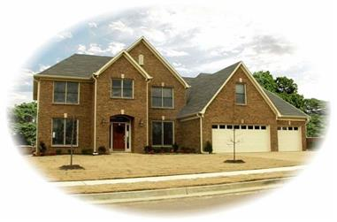 4-Bedroom, 3591 Sq Ft French House Plan - 170-1927 - Front Exterior