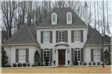 4-Bedroom, 4182 Sq Ft French House Plan - 170-1929 - Front Exterior