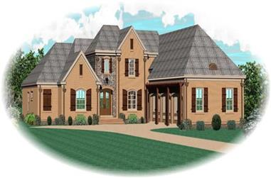 4-Bedroom, 3959 Sq Ft Country House Plan - 170-1932 - Front Exterior