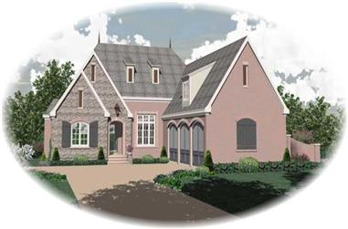 3-Bedroom, 4189 Sq Ft French House Plan - 170-1933 - Front Exterior
