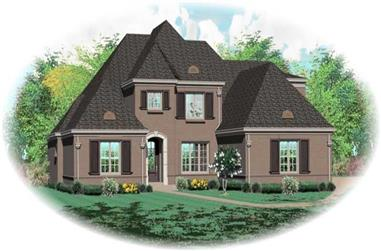 5-Bedroom, 4886 Sq Ft French House Plan - 170-1938 - Front Exterior