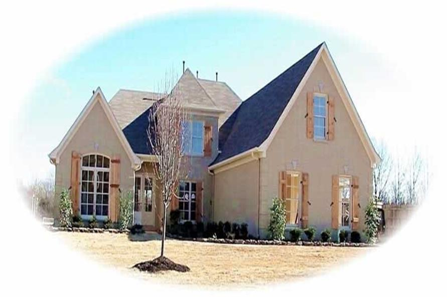 4-Bedroom, 3692 Sq Ft French Home Plan - 170-1942 - Main Exterior