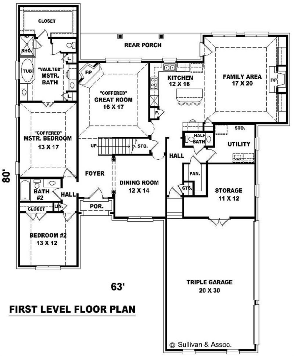 Large Images For House Plan 170 1942